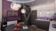дизайн кухни в 3-комнатной квартире П-44Т - 3