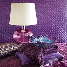 Lamp & Other Purple (pillow,throw,& glass bowl) Items! Love Pier 1. Products from Pier 1 Imports