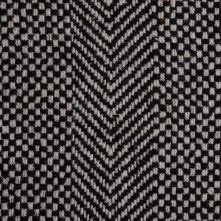 Black/White Check and Chevron Wool Coating