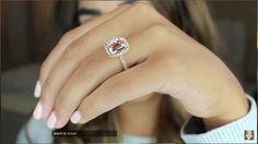 DREAM RING - only one I want!!  14 Karat Rose Gold 11x9 mm Cushion Cut Diamond Halo