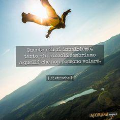 Quanto più ci innalziamo, tanto più piccoli sembriamo a quelli che non possono volare. (Nietzsche)