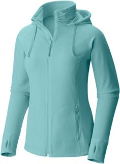 Mountain Hardwear Women's Microchill Full-Zip Hoodie Spruce Blue XL