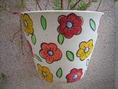 Flower Pot Art, Flower Pot Crafts, Clay Pot Crafts, Painted Plant Pots, Painted Flower Pots, Flower Planters, Pottery Painting, Ceramic Painting, Pottery Pots