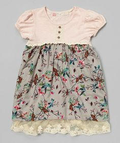 Love this Pink & Periwinkle Birds Babydoll Dress - Toddler & Girls on #zulily! #zulilyfinds