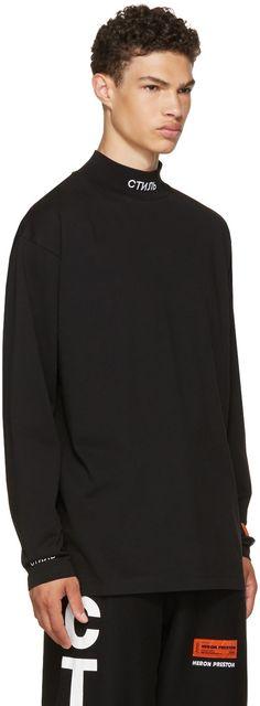 Heron Preston - Black Long Sleeve 'For You' 'CTNMB' T-Shirt