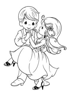 Free Precious Moments Wedding Coloring Pages For Kids Tone