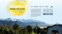 Churchill Park Cottage is a rental house on the south island of New Zealand. The owners wanted a fun splash page that would showcase the home, while also directing them to a booking website. Splash Page, Photo Maps, South Island, Churchill, New Zealand, Web Design, Cottage, Website, Park