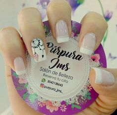 Nails French Largas Ideas in 2020 Cute Acrylic Nails, Cute Nails, Pretty Nails, My Nails, Nail Blog, Sparkle Nails, Dream Nails, Nail Decorations, French Nails