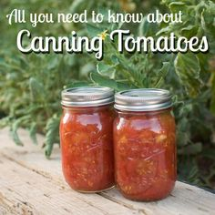 A detailed guide with pictures for bottling diced tomatoes and crushed tomatoes safely.