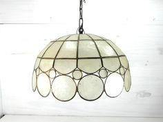 Capiz shell pendant light gold metal shell by vintagefrenchdream