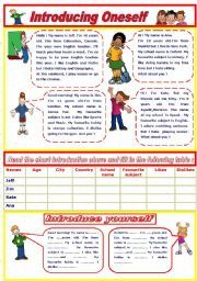 Katia lilia katialilia on pinterest english worksheet introducing oneself m4hsunfo