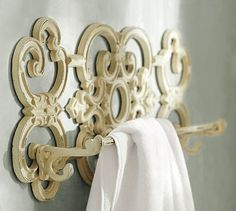 Antique Scroll Towel Bar #potterybarn