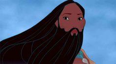 Beardahontas. #NoshaveNov All the Disney princesses with beards via Buzzfeed