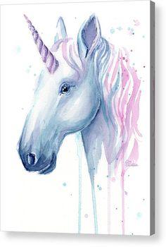 Unicorn Acrylic Prin