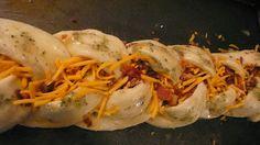 Joyously Domestic: Braided Bacon Ranch Cheddar Bread