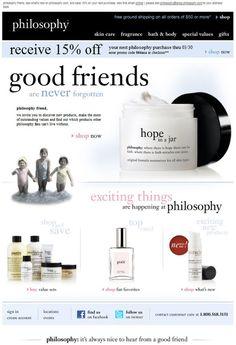 "Philosophy ""Good friends are never forgotten"""