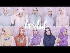 11 different styles for hijabi bride! - YouTube