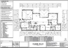 New Modern Home Plan or 2873 Sq. Simple Floor Plans, Modern Floor Plans, Farmhouse Floor Plans, Home Design Floor Plans, Modern House Plans, Ranch Style Floor Plans, Duplex Floor Plans, Living Room Floor Plans, Garage Floor Plans