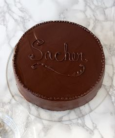 The classic Sacher Torte is made with chocolate cake layers, apricot preserves and a shiny chocolate-glaze finish. It's a lovely cake fit for any occasion. Unique Desserts, Party Desserts, Dessert Party, Party Recipes, Chocolate Glaze, Chocolate Desserts, Flan, Funnel Cake Cupcakes, Deserts