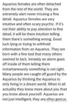 Aquarius ♒ woman - eerily accurate!