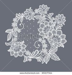 Find Lace Flowers Decoration Element stock images in HD and millions of other royalty-free stock photos, illustrations and vectors in the Shutterstock collection. Brush Embroidery, White Embroidery, Lace Patterns, Embroidery Patterns, Machine Embroidery, Lace Painting, Lace Art, Lace Tattoo, Lacemaking