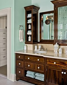 like the sea foam green and the walnut brown together