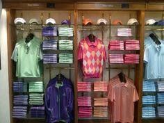 "March 20, 2013: ""The Old Course Shop looks stunning,"" said Peter Millar UK (@Peter Millar) of its apparel display at St. Andrews, Scotland."