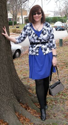 Versatile Style By Tracey  Winterizing a Summer Dress