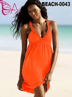 Orange Dress in our BEACHWEAR range with sizing available from 14-16 to 26-28. Available for order at www.maxidressheaven.com #dress #beach #womensfashion