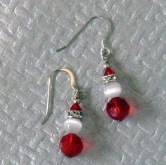 The holidays are fast approaching and these cute little Santa earrings would look fabulous hanging from your ears. These earrings are 1 and hang