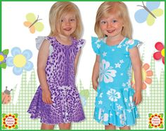 Alice Sewing Pattern for Children, KNIT Dress Pattern for Girls, Twirl dress, 2y-12y,Baby, Toddler Patterns, Ebook, Tutorial, PDF