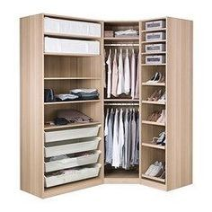 PAX Wardrobe, White Stained Oak Effect, Nexus Vikedal Cm Standard Hinges