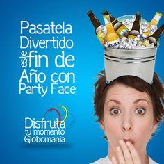 ¿Tienes poco presupuesto para tus fiestas de fin de año? #Globomanía te ofrece una alternativa muy creativa. Conoce nuestra línea #PartyFace!!  #DisfrutaTuMomentoGlobomanía