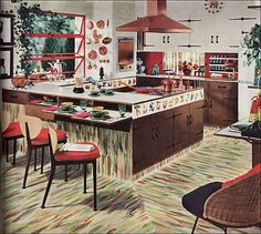 1954 Armstrong Kitchen - Copper Accents | Flickr - Photo Sharing!