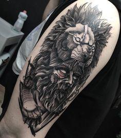 """lucasmascangni Tattoo on Instagram: """"Bom dia!! Hércules que fiz para o João no @skinktattoosp pelo app @skinkflash 🙏🏻🙏🏻 muito obrigado 🍻👊🏻 . . #tattoo #tatuagem #tattooart…"""" Hercules Tattoo, Tattoo On, Sleeve Tattoos, App, Portrait, Instagram, Ideas, Thanks, Buen Dia"""