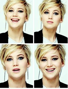 Jennifer Lawrence - stunning with short hair. GAWD, i love her.