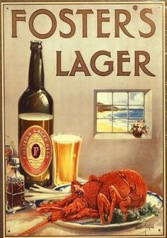 vintage australian poster   fosters larger