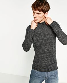 Image 2 of TURTLENECK SWEATER from Zara COLOR: Navy blue 1501/401