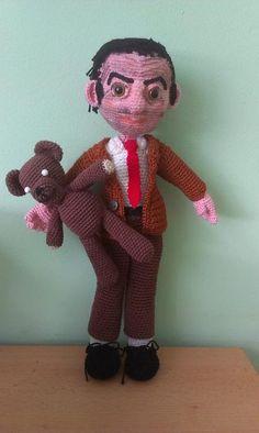 mr bean with teedy bear