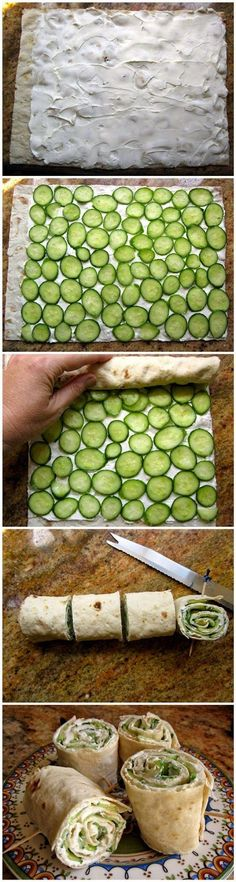 They are very simple and delicious, and if you like traditional cucumber and cream cheese sandwiches, you'll love these too.    Ingredients ...