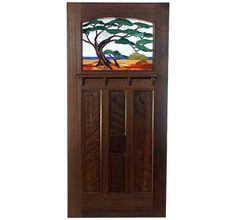 Old Growth Redwood Contemporary Bungalow Door
