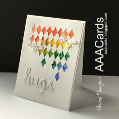 I& been lucky again! This time I was asked to do a Guest Designer spot for AAA Cards after winning the embossing challenge! Homemade Greeting Cards, Homemade Cards, Butterfly Cards, Flower Cards, Cute Cards, 3d Cards, Rainbow Card, Mixed Media Cards, Beautiful Handmade Cards