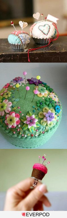 Pincushion ideas - la primera me encanta!!