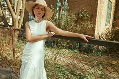 THE COOL GIRL featuring the Pauletta dress in white broderie anglaise. Sustainable Clothing, Contemporary Fashion, Cool Girl, Highlights, Editorial, Women Wear, White Dress, London, Pearls