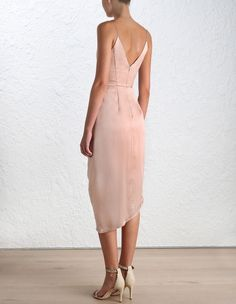 Sueded Silk Plunge Dress (Short Length) by Zimmermann - back view of dress