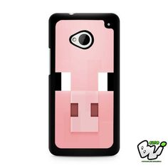 Minecraft Pig Pink Head HTC G21,HTC ONE X,HTC ONE S,HTC M7,M8,M8 Mini,M9,M9 Plus,HTC Desire Case