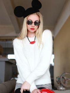 Mickey Ears Wool Beret Hat | Choies