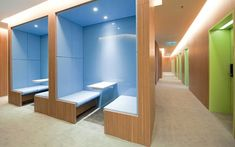 Visual, screen and sound privacy is more important than having a totally private office.  KL IM - Booths