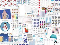 Зима для печати Пакет с 77 мероприятий для детей в возрасте 2-7    Подарок из любопытства