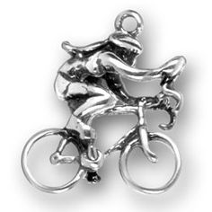 Female Bike Rider Charm #TourUSA Made in #NewMexico